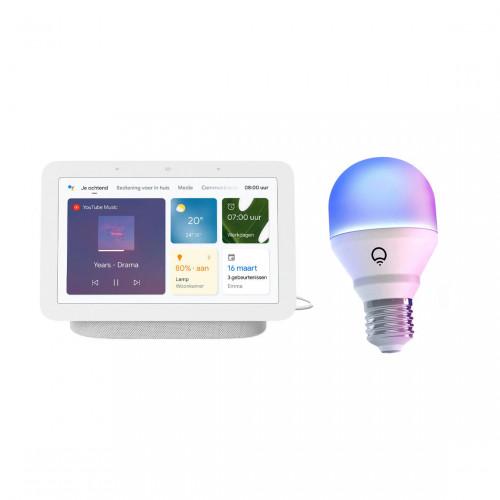 Google Nest Hub + LIFX Mini Colour E27