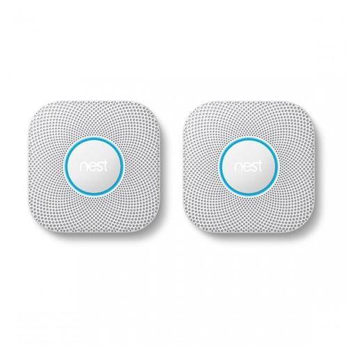 Google Nest Protect 2-pack - Rook- en Koolmonoxidemelder