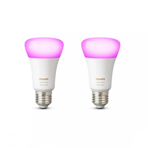 Philips Hue White & Color Ambiance E27 Bluetooth Ledlampen 2-pack