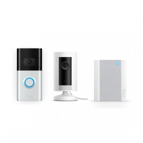 Ring Video Doorbell 3 + Ring Indoor Cam + Chime Gen. 2