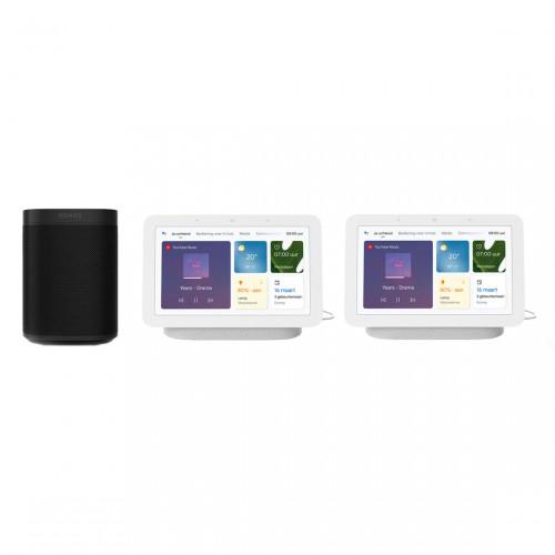Sonos One + Google Nest Hub (Gen. 2) 2-pack