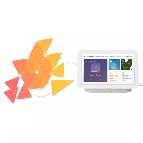 Nanoleaf Shapes Triangles Starter Kit 15-pack + Google Nest Hub (Gen. 2)