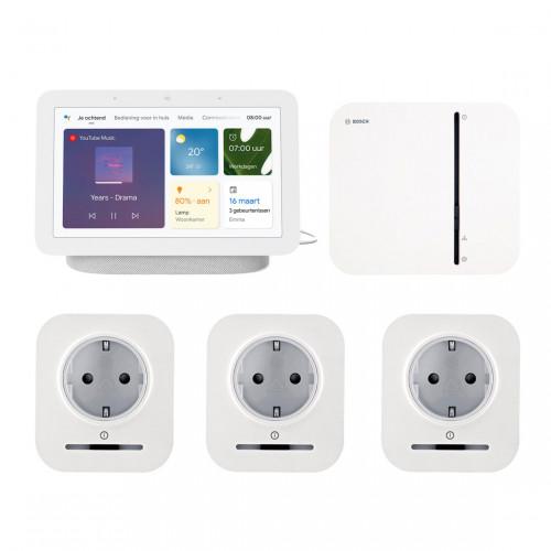 Bosch Smart Home Controller + 3x Slimme Stekker + Google Nest Hub (Gen. 2)
