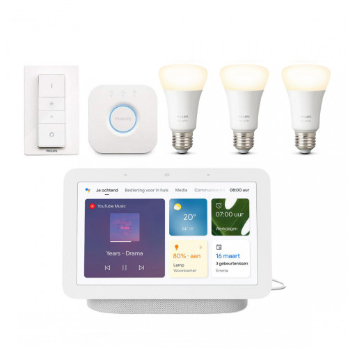 Philips Hue White E27 Bluetooth Starter Kit + Google Nest Hub (Gen. 2)