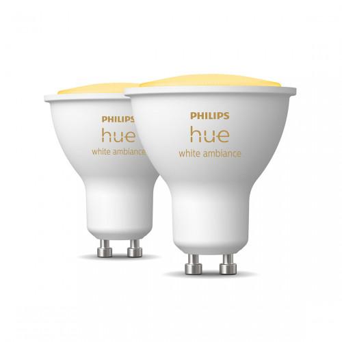 Philips Hue White Ambiance GU10 Bluetooth Led Spot 2-pack