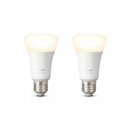 Philips Hue White E27 Bluetooth 2-pack - Ledlampen