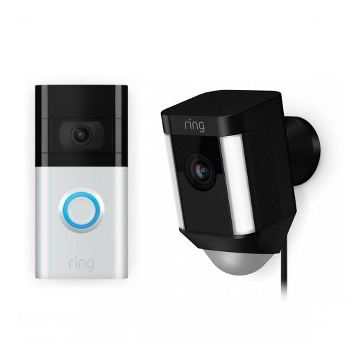Ring Video Doorbell 3 + Ring Spotlight Cam Wired