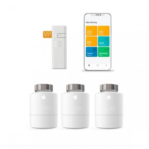 tado° Slimme Thermostaat - Starterskit V3 met 3 thermostaten & Bridge met app