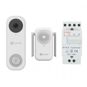 EZVIZ DB1C Video Doorbell + Chime + Transformator