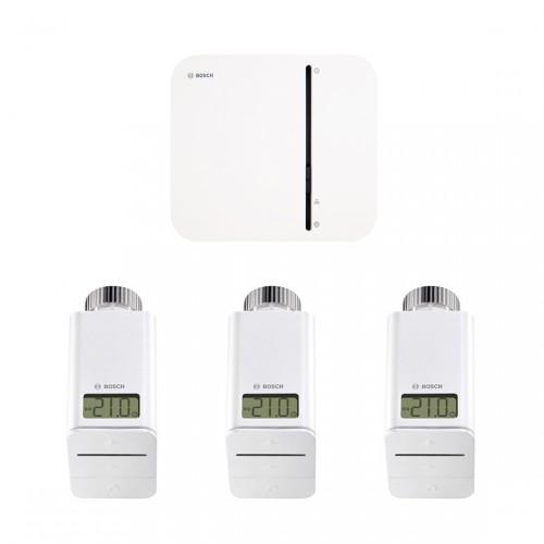 Bosch Smart Home Controller + 3x Radiatorknop