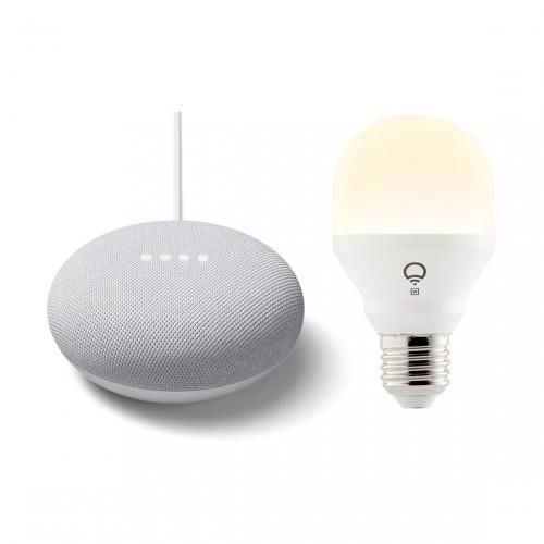 Google Nest Mini + LIFX Mini E27 White Wifi Led Lamp
