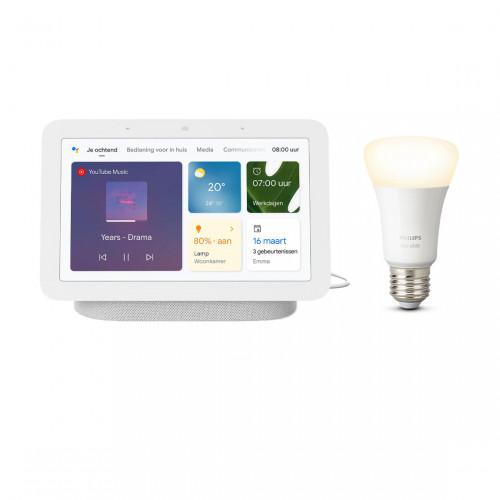 Google Nest Hub (Gen. 2) + Philips Hue White E27 Bluetooth Lamp