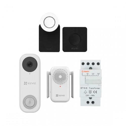 EZVIZ DB1C + Chime + Transformator + Nuki Combo 2.0 - Smart Lock en Bridge