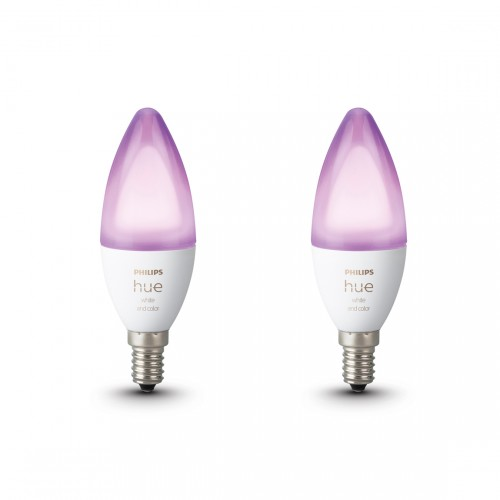 Philips Hue White & Color Ambiance E14 Bluetooth Led Lamp 2-pack