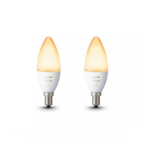 Philips Hue White Ambiance E14 Bluetooth Led Lamp 2-pack