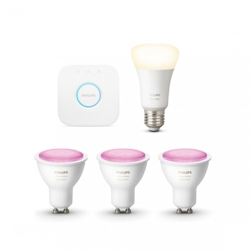 Philips Hue White & Color Ambiance GU10 Bluetooth Starter Kit + 1 Lampe