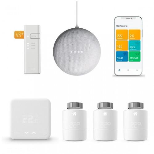 tado° Slimme Thermostaat Starter Kit V3+ + 3x Radiatorknoppen + Google Nest Mini