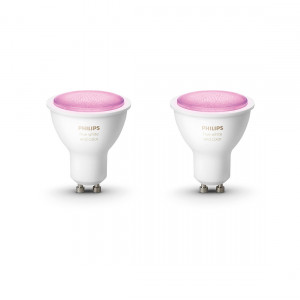 Philips Hue White & Color Ambiance GU10 Bluetooth Led Spot 2-pack