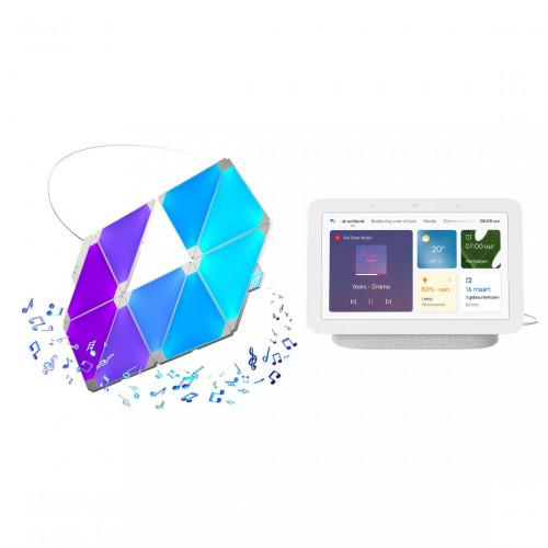 Nanoleaf Light Panels Smarter Kit 9-pack + Google Nest Hub (Gen. 2)