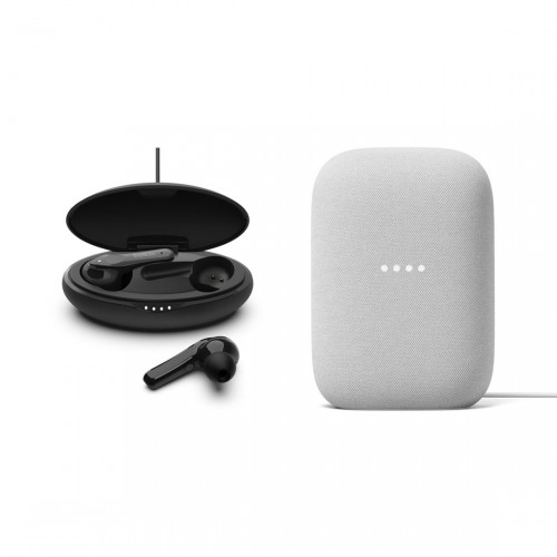 Google Nest Audio + Belkin SOUNDFORM Move Earbuds