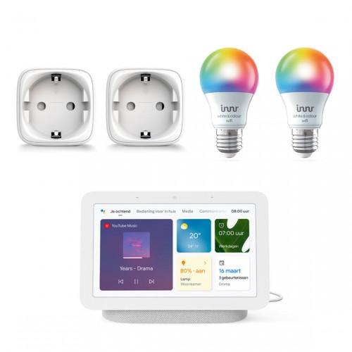 Google Nest Hub (Gen. 2) + Innr Smart Plug 2-pack + Innr Wifi Colour Bulb 2-pack
