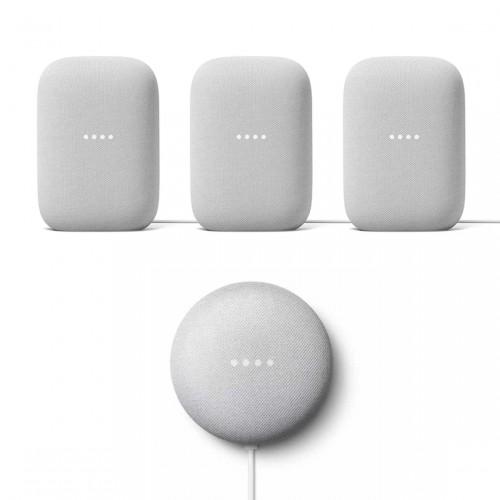 Google Nest Audio 3-pack + Google Nest Mini
