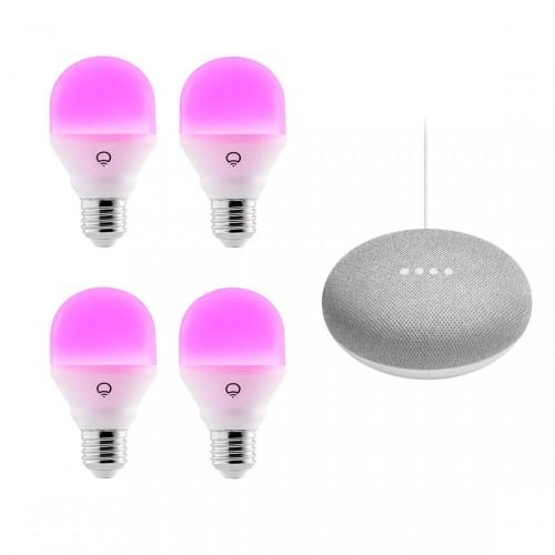 LIFX Color 4-pack + Google Nest Mini