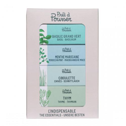 Prêt à Pousser Pack The Essentials - Kruiden voor Indoor Garden