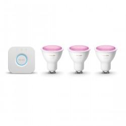 Philips Hue White and Color GU10 Bluetooth Starter Kit - 3 Lampen + Bridge