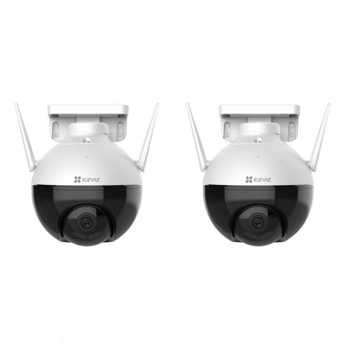 EZVIZ C8C Outdoor Wifi Pan Tilt Camera 2-pack