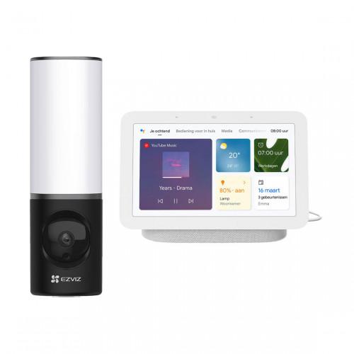 EZVIZ LC3 Floodlight Camera + Google Nest Hub (Gen. 2)