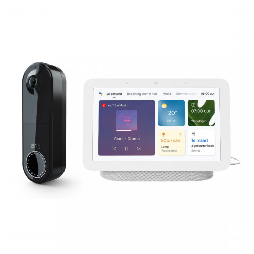 Arlo Wire Free Video Doorbell + Google Nest Hub