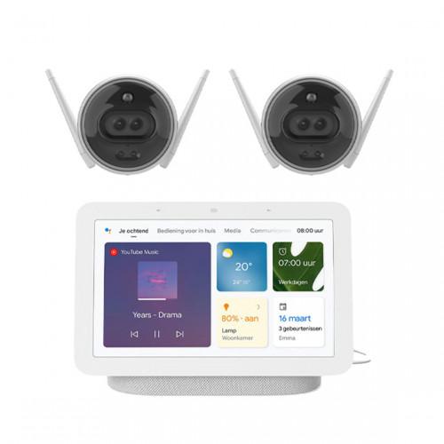 EZVIZ C3X 2-pack + Google Nest Hub (Gen. 2)