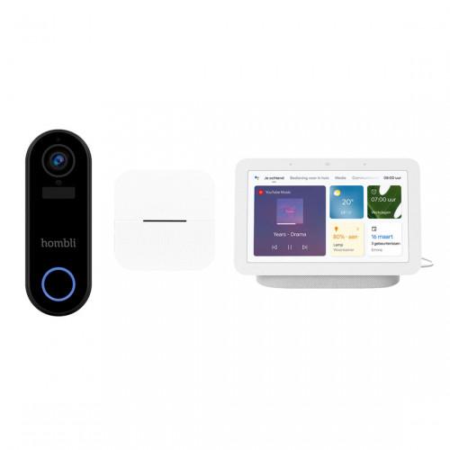 Hombli Smart Doorbell V2 + Chime + Google Nest Hub