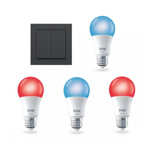 Innr Bulb E27 Color 4-pack + Senic Friends of Hue Lichtschakelaar