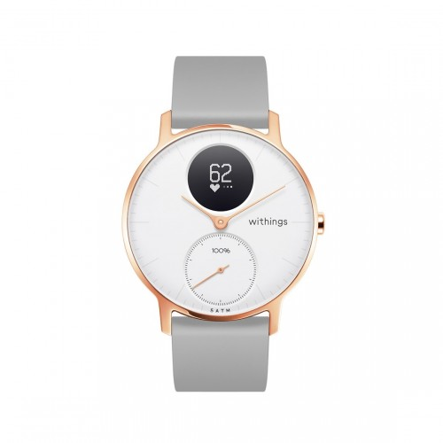Withings Steel HR 36mm Wit en Rosé Goud - Smartwatch