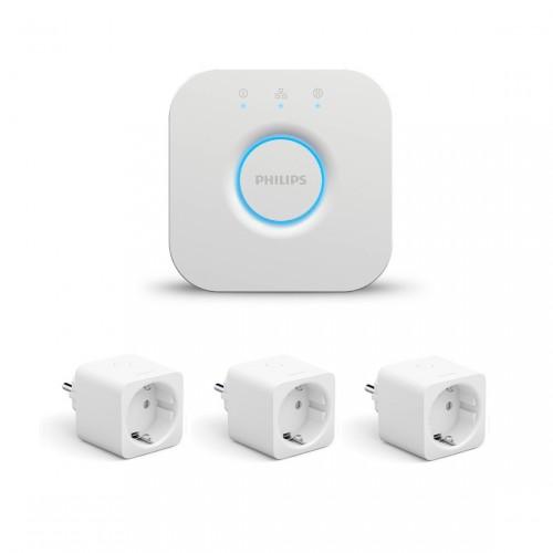 Philips Hue Bridge + Smart Plug 3-pack