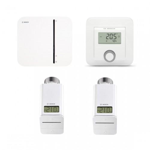 Bosch Smart Home Controller + 2x Radiatorknop + Kamerthermostaat