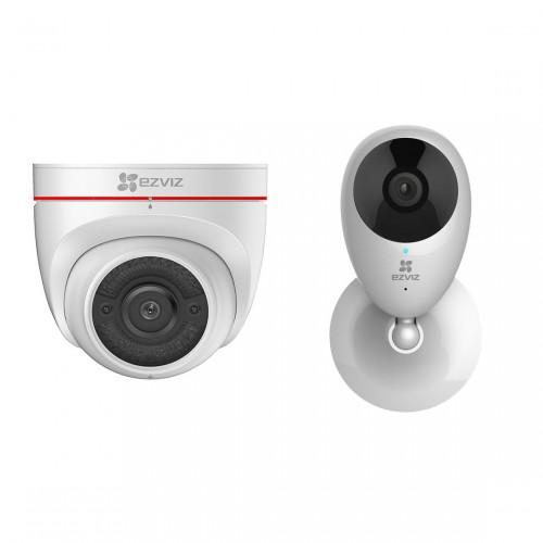 EZVIZ C4W Outdoor Camera + C2C Mini O Plus
