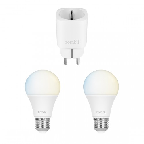 Hombli Smart Bulb CCT 2-pack + Smart Socket