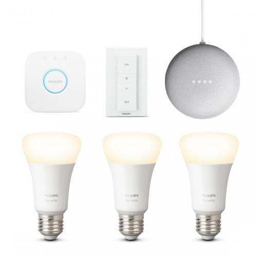 Philips Hue White E27 Bluetooth Starter Kit + Google Nest Mini
