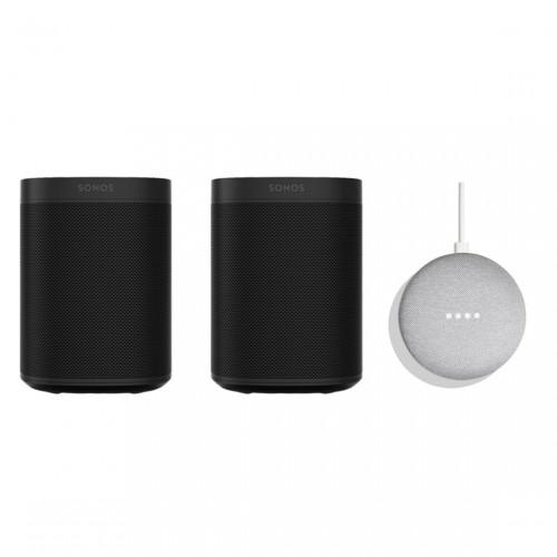 Sonos One Stereo Set + Google Nest Mini