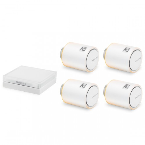 Netatmo Heizkörper-Thermostat Starter Set mit 4 Thermostaten