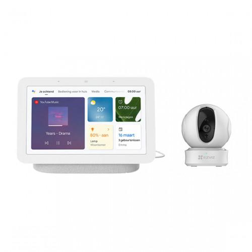 Google Nest Hub (Gen. 2) + EZVIZ C6CN Pro Pan Tilt Wifi Camera