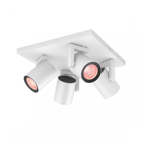 Philips Hue White & Color Ambiance Argenta Bluetooth Plafondlamp 4-lichts Spotbalk