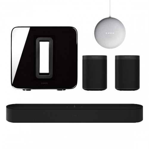 Sonos One Beam 5.1 Surroundset + Google Nest Mini