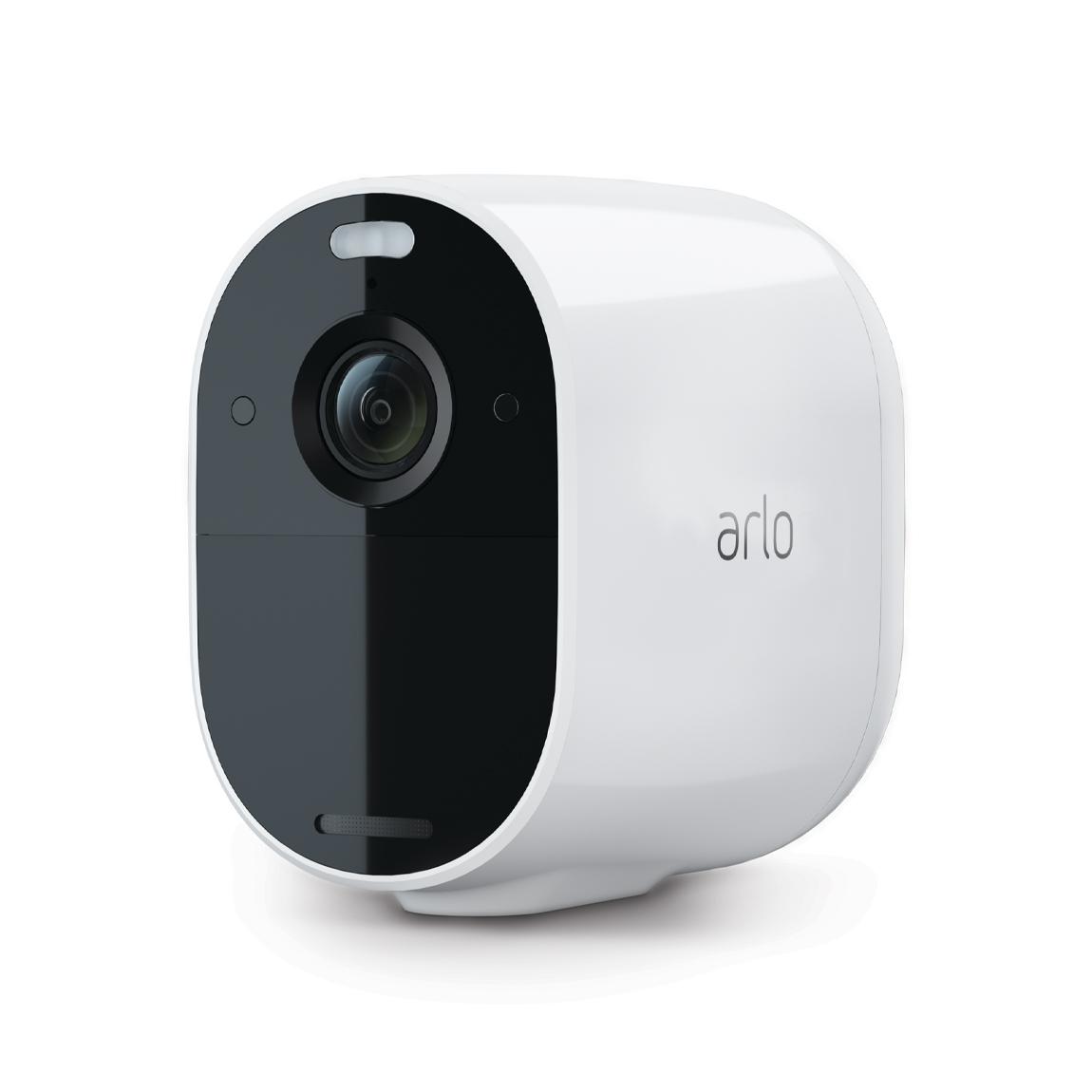 Met de arlo vmc2030 essential spotlight camera beveilig je je buitenruimte dag en nacht, het hele jaar door. ...