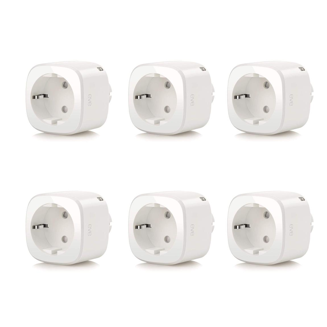 Met de eve energy slimme stekker kun je het stroomverbruik van elk huishoudelijk apparaat regelen en bekijken ...