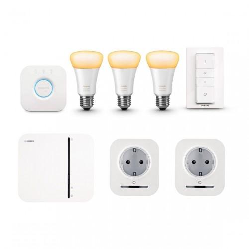 Bosch Smart Home Controller + 2x Slimme Stekker + Philips Hue White E27 Bluetooth Kit