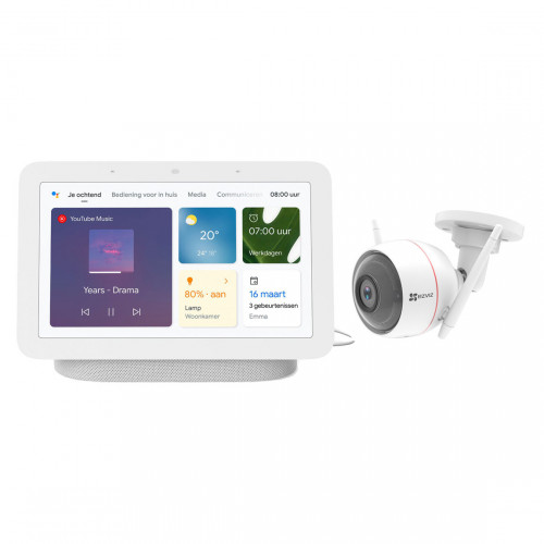 Google Nest Hub (Gen. 2) + EZVIZ Husky Air C3W
